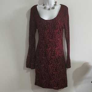 Alloy apparel stretchy lace dress Large